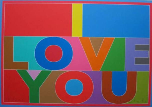 Sir Peter Blake I Love You - Car Boot Edition - Hang Up Gallery